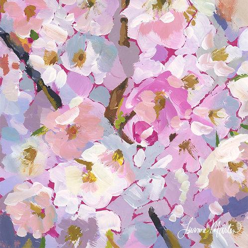 Pastel Paradise, cherry blossoms high quality art print