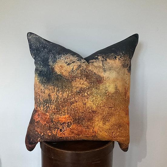 Corrosion velvet cushion