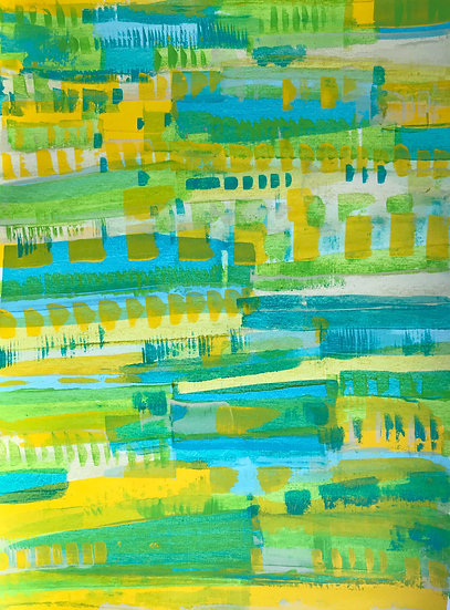 Patterns -Turquoise , yellow