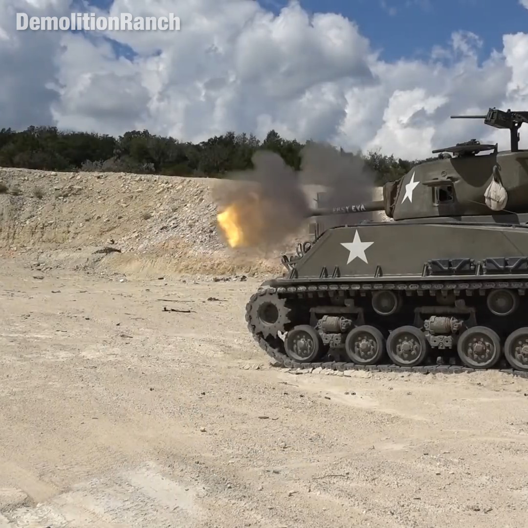 The Power of A Tank Muzzle Blast
