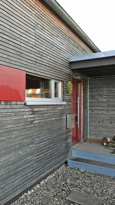 Architekt Nürnberg, Architekt Fürth, Architekt Erlangen, Architekt Neuendettelsau, Architekt Einfamilienhaus, Architekt Holzbau, vergrautes Lärchenholz, Volker Schmidt Architekten
