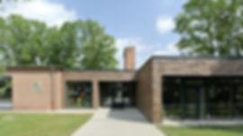 Architekt Nürnberg, Architekt Kindergarten, Volker Schmidt Architekten, Architektouren 2015, Klinkerfassade, Ziegelfassade, Sichtmauerwerk, wilder Verband, Kindergarten in den Bäumen, Erweiterung Kinderkrippe