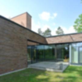 Architekt Nürnberg, Architekt Kindergarten, Architekten Kindergarten, Terrasse Thermoesche, Holz-Pfosten-Riegel-Fassade, Klinkermauerwerk, Sichtmauerwerk, Ziefgelfassade, Flachdach, Architekten Nürnberg, Architekt Kinderkrippe