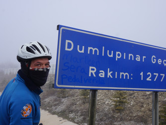 Cycling in the cold in Anatolia