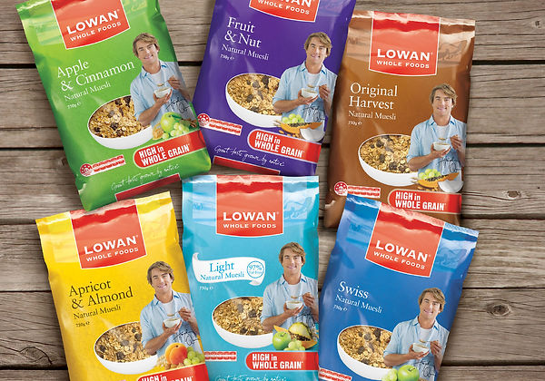 Packaging Design Lowan Whole Foods Natural Muesli