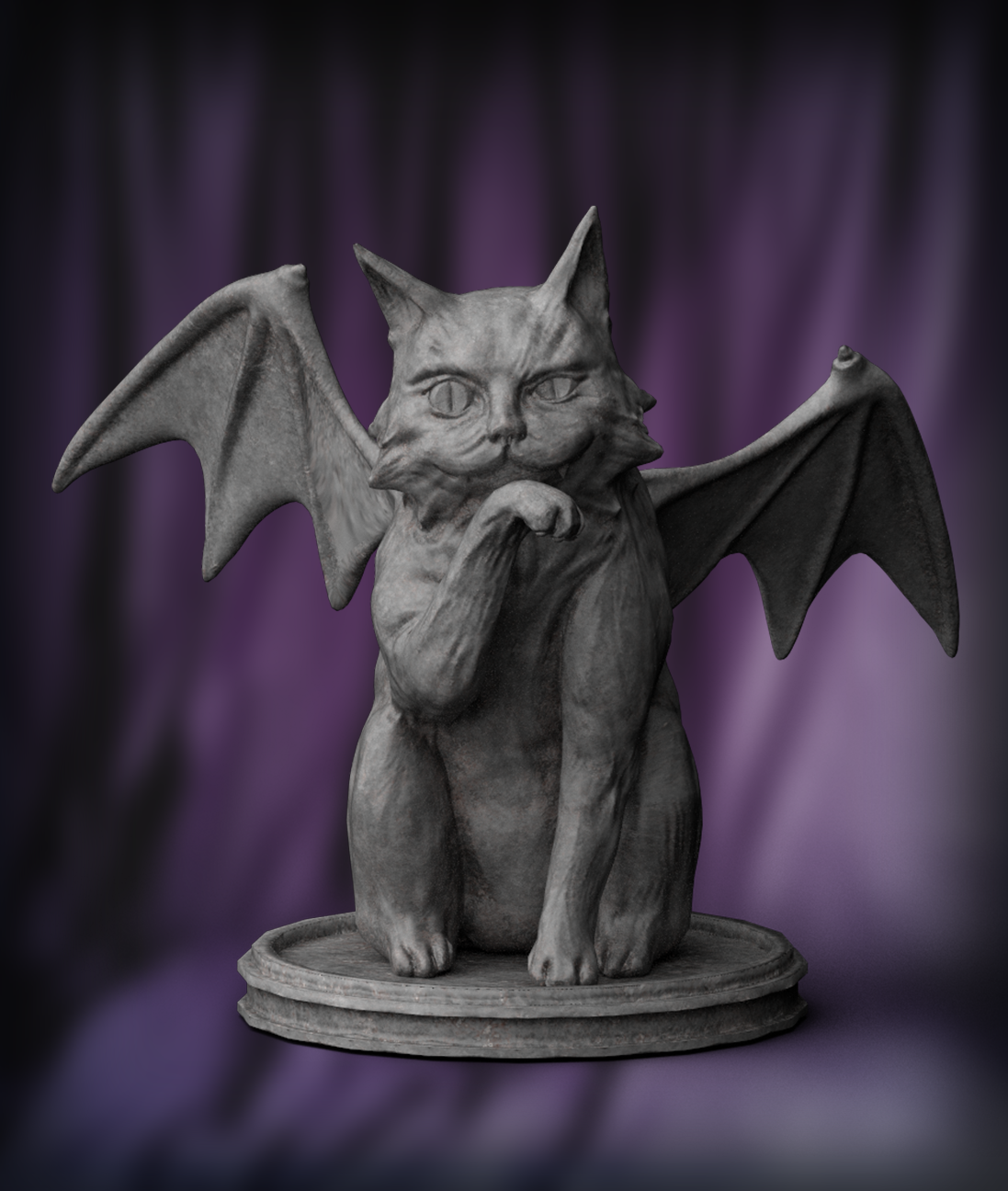 Cat Gargoyle with texture