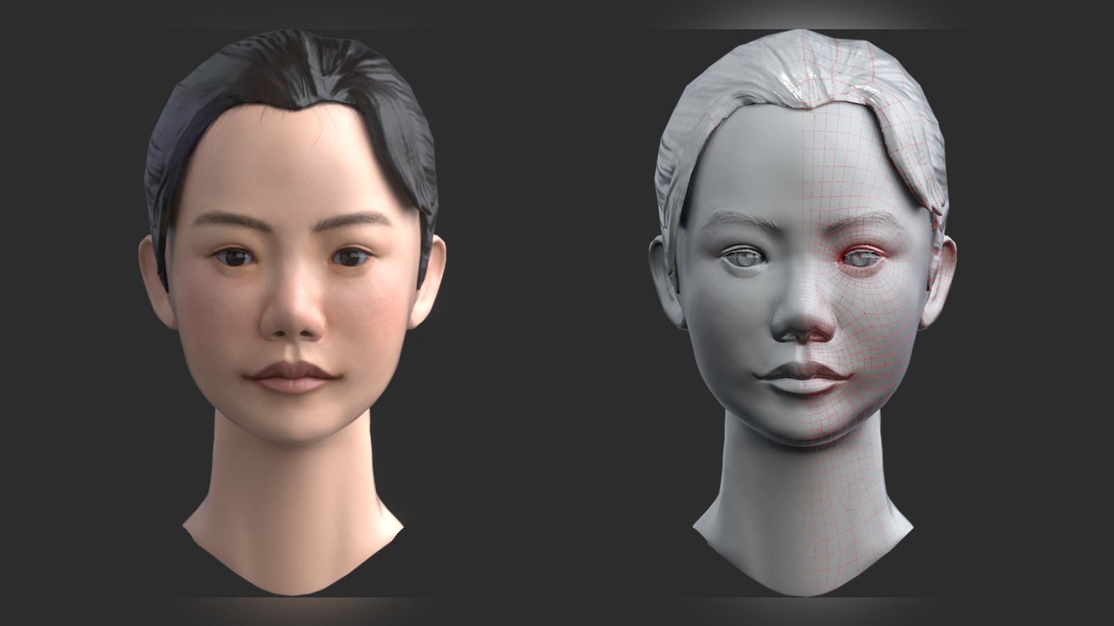 Realism Girl Head