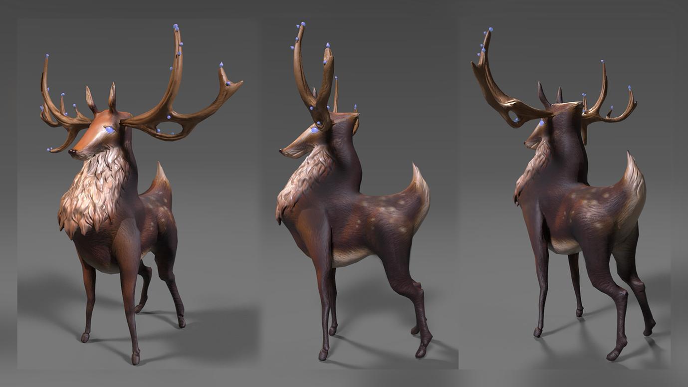 Deer With Texture
