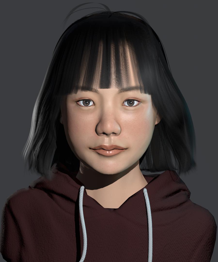 Realism Girl Bust