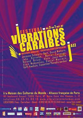Affiche festival Vibrations Caraïbe