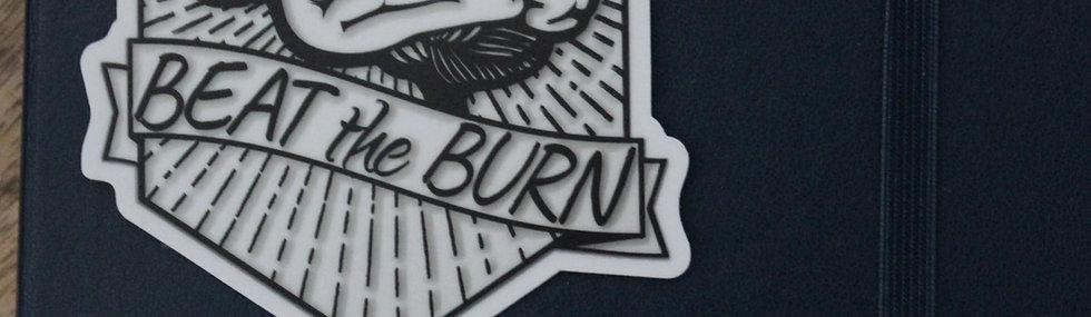 Beat the Burn Vinyl Sticker