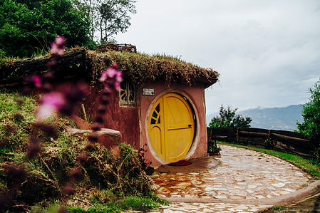 The Casita del Nido - part of the hotel at Hobbitenango
