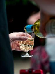Cold glass of white wine