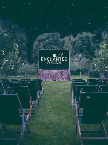 Enchanted Cinema at Night