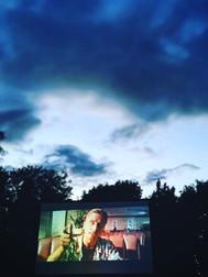 Pulp Fiction under beautiful Cambridge sky