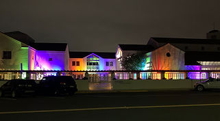 Church lit in Pride colors IMG_1893 (for