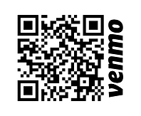 Venmo QR code for SJEC (with Venmo logo)