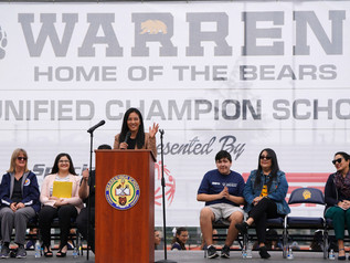 Warren High honored as Special Olympics Unified Champion School in ceremony featuring Michelle Kwan