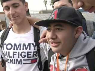 Soccer player with special needs scores goal in varsity home game in Phoenix