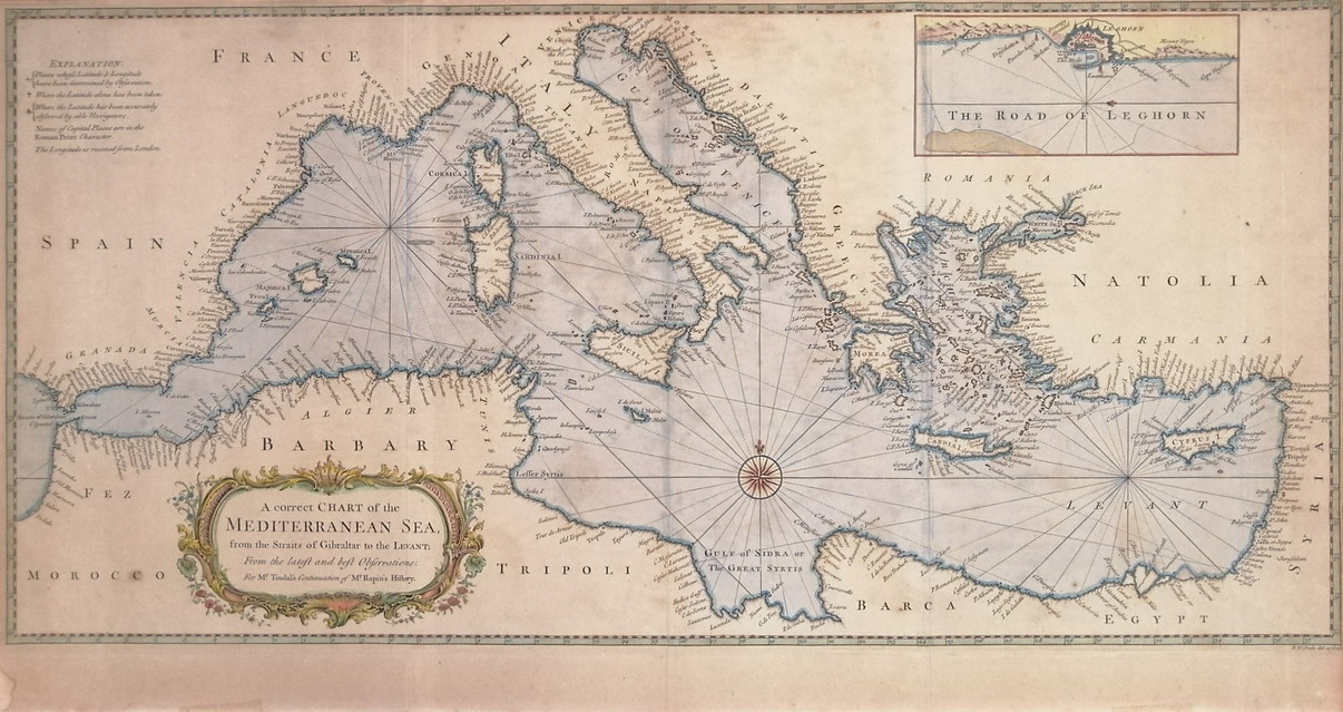 A correct chart of the MEDITERRANEAN SEA , from the Straits of Gibraltar to the Levant...