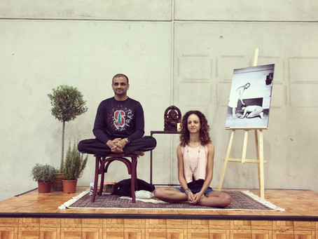 Practicing Ashtanga with Sharath Jois  in Madrid