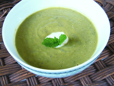 This Month's Recipe: Minted Pea Soup!