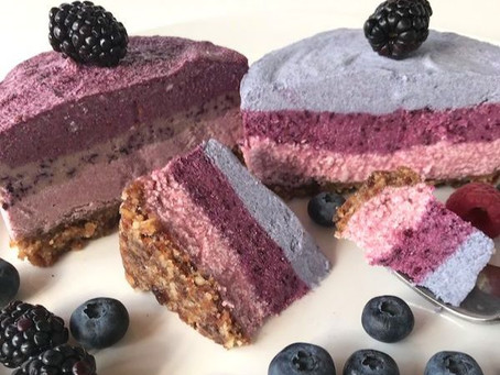 This Month's Recipe: Magnificent Vegan Berry Cheesecake!