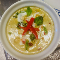 Soupe coco curry vert