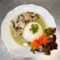 Poulet curry vert et son riz parfumé au jasmin