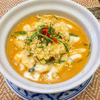 Soupe coco curry rouge