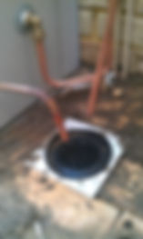 Sample Installations - Gas Hot Water System  Gas Hot Water System Installation - showing termination of relief drain