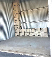Self storage unit This unit suits a small apartment or 2 bedroom home.