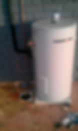 Sample Installations - Electric Hot Water System  Gas Hot Water System Installation - showing termination of relief drain