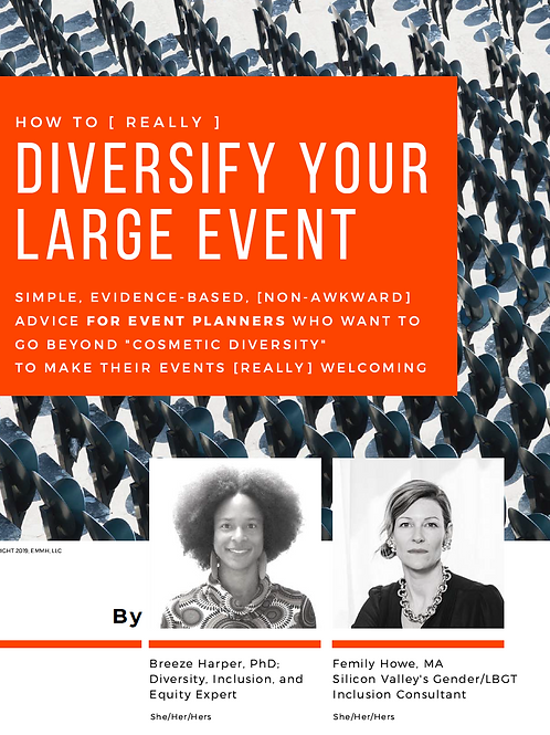 How to [really] diversify your large event: What to do before, during, and after