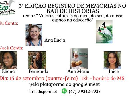 Live Cuidar de Si - Espaço Eco Pantaneiro - Ana Tomazoni