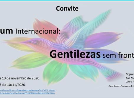 GENTILEZAS SEM FRONTEIRAS - 1º FÓRUM INTERNACIONAL:
