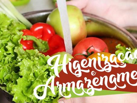 Higienização e Armazenamento dos Alimentos