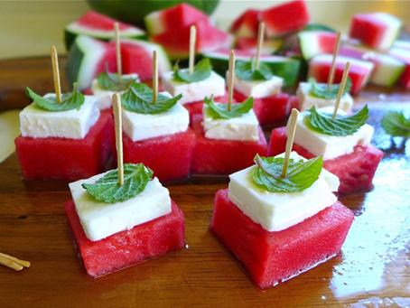Melancia! salada ou aperitivo?