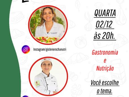 Live - 02/12 - Nutrição e Gastronomia