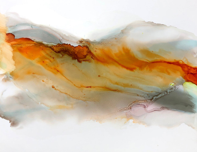 "Big Dreams 7, Firey in rust -11x14"""
