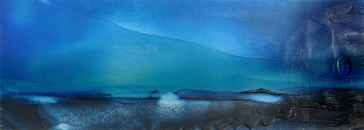 """Almost Ocean I-12x3.5"""" on-paper"""