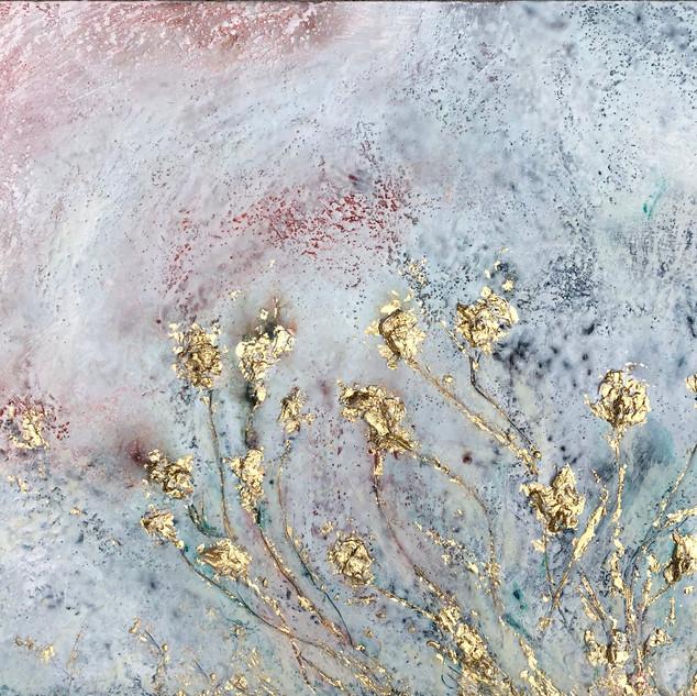 Golden Flowers White II