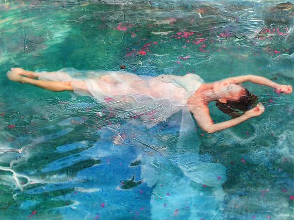 Self Portrait - Floating Amongst Petals