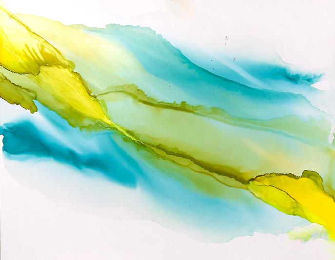 Big Dreams 5 - Serene, in blue/yellow