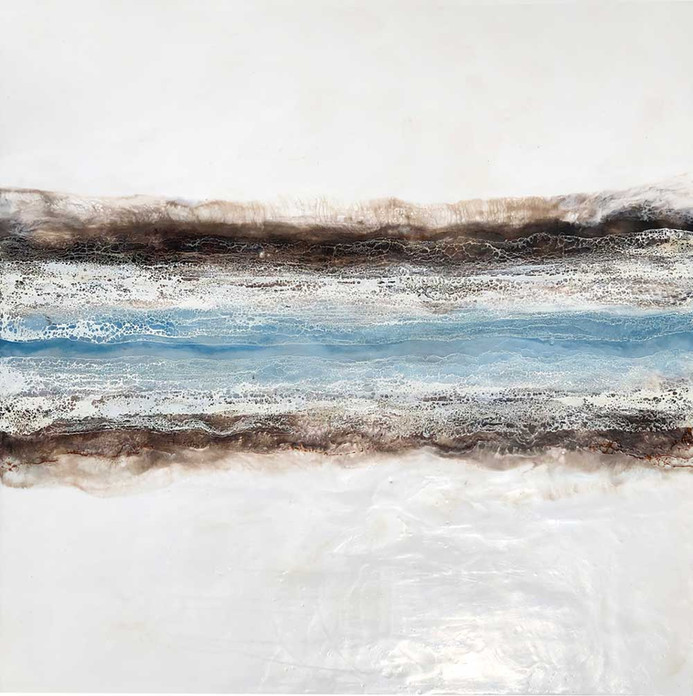 """Between- in ice-blue I - 30x30"""""""