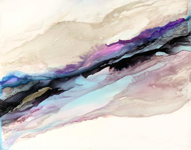 "Big Dreams 10 - Purple Sky - 11x14"""