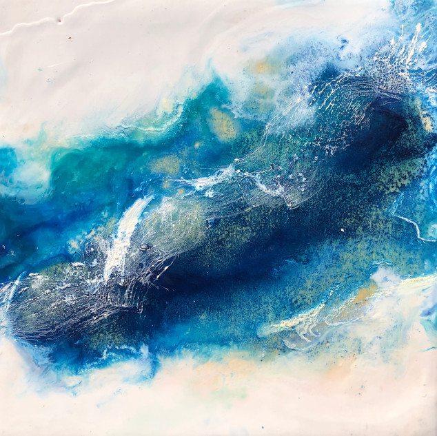 Waves of Seafoam Blue
