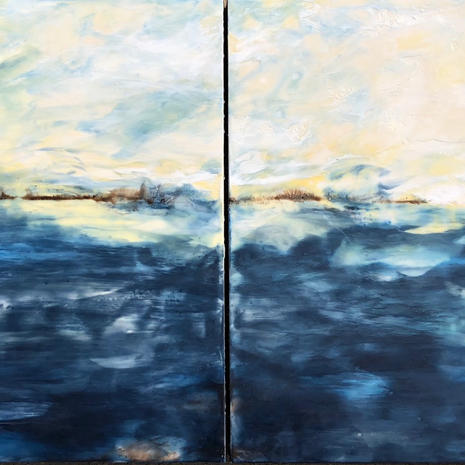 Breathing Dreams like Air diptych