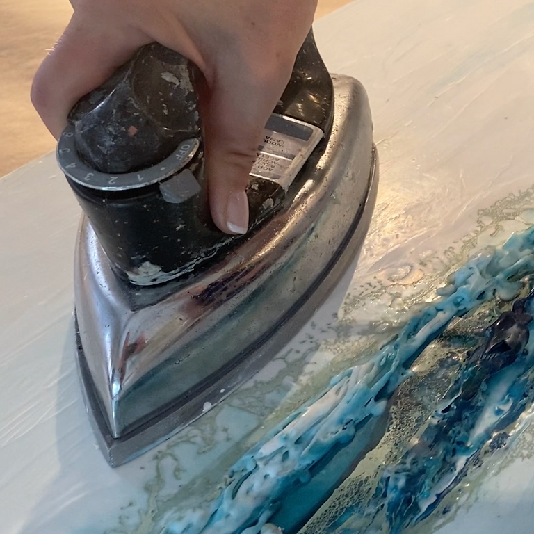 Encaustic (Wax) Painting Virtual One-on-One Lesson – Ironing to fuse