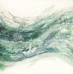 "Between the Seafoam Waves - 24x24"""